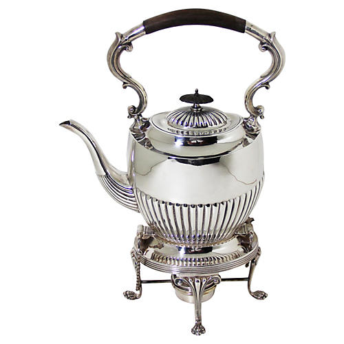 English Teakettle on Stand, C. 1870