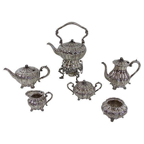 Melon-Shaped Tea & Coffee Set, 1900
