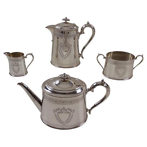 Oval Tea & Coffee Set, 4 Pcs