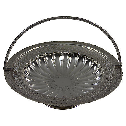 Silver-Plate Cake Basket, C. 1880