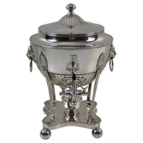 Tea/Coffee Urn & Burner, c.1880