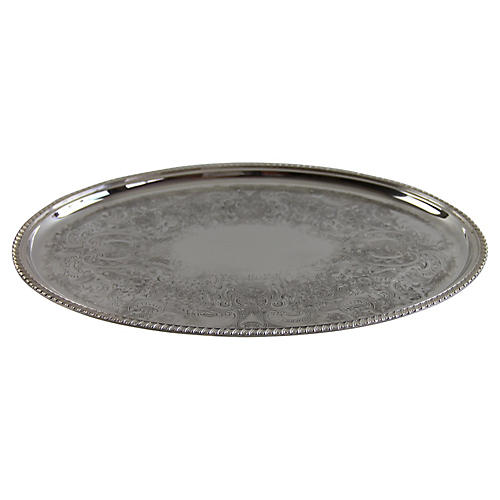 Barker Ellis Silver-Plated Salver