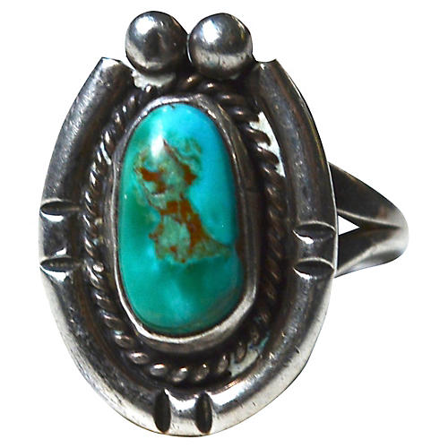 1940s Navajo-Style Turquoise Ring