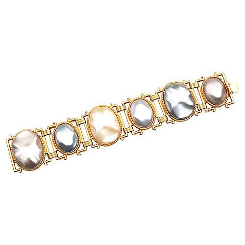 YSL Oversize Pearlized Bracelet