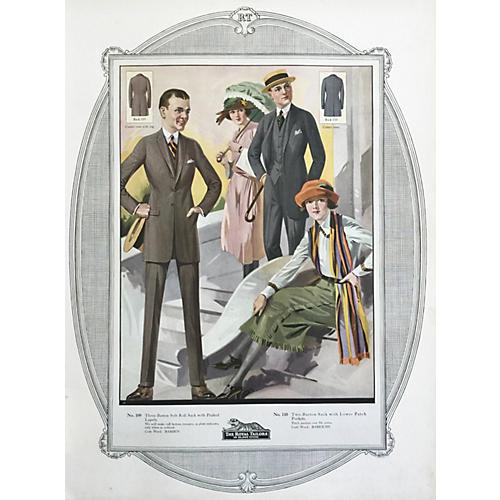 Tailor Shop Fashion Poster, 1923