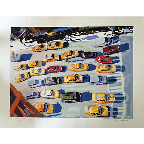 New York Serigraph by Tom Christopher