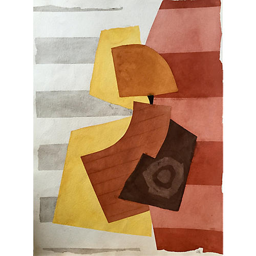 Watercolor abstract by Roger D. Stokes