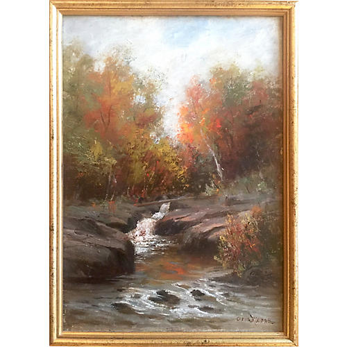 New England Fall Landscape by Weber