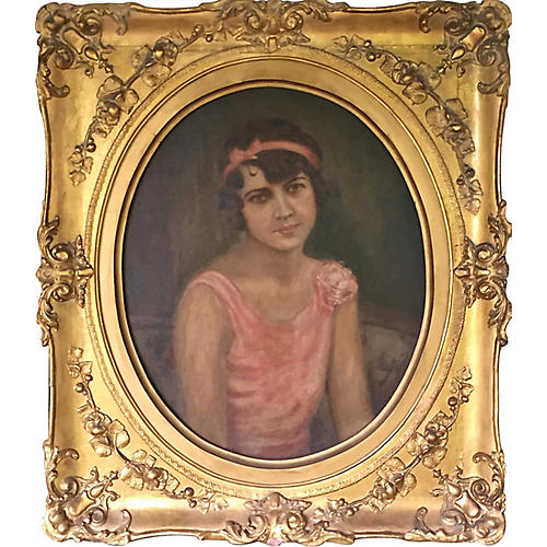 Portrait of Flapper Girl by Hoffman