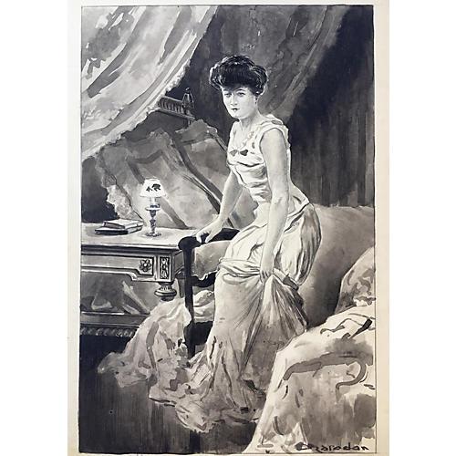Victorian Woman In Boudoir