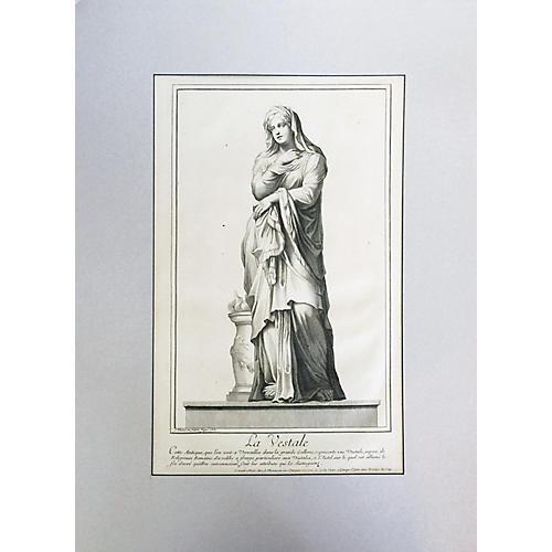 "18th-C. Engraving of ""La Vestale"""
