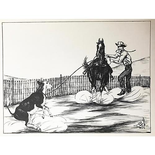 Western Calf Roping Pen by Keoke