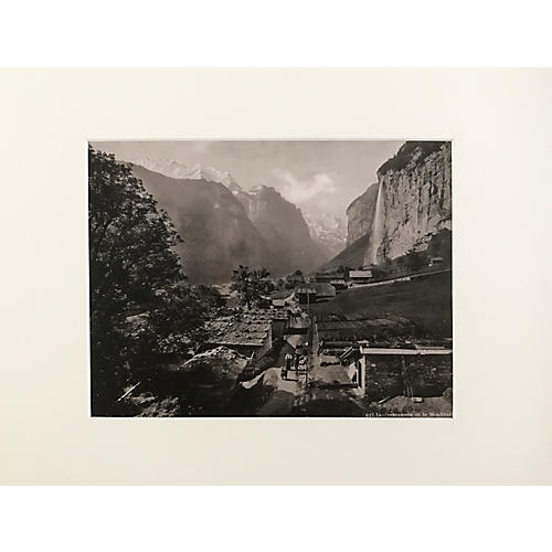 19th-C. Lauterbrunnen Swiss Alps