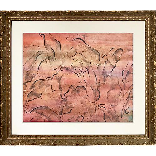 Midcentury Abstract Foliate Design