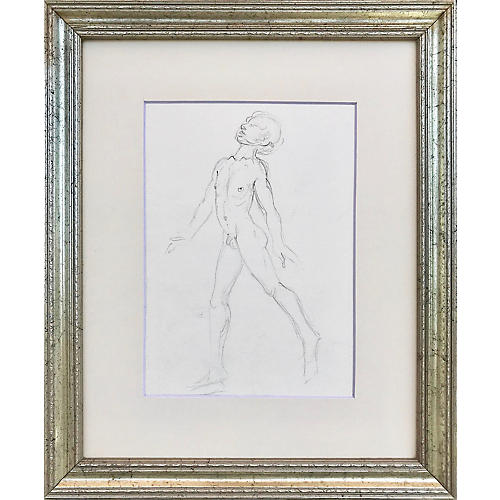 Nude Drawing by Richard Ericsson