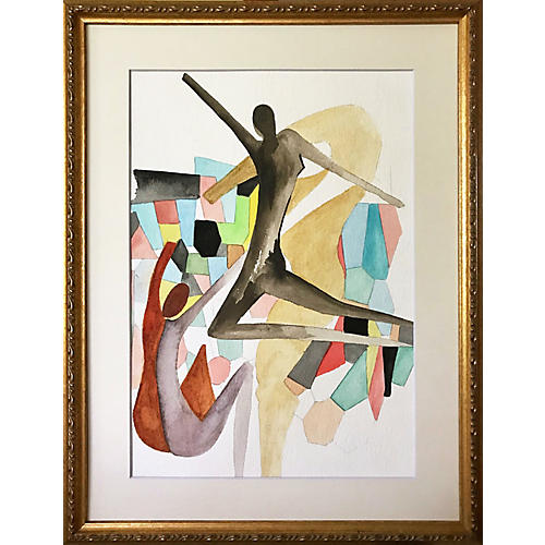 Abstract Figurative Watercolor