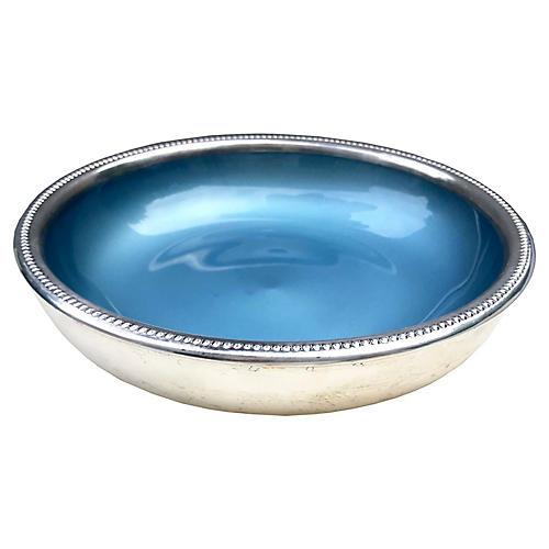 Enamel & Fine Silver-Plate Bowl