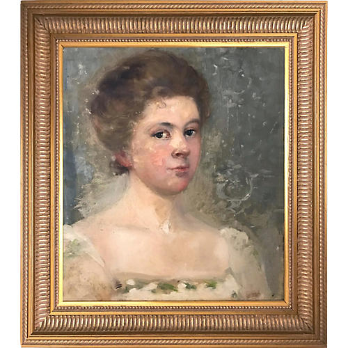 Antique Portrait of a Woman by Nowell