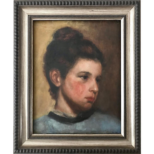 Antique Portrait of a Girl