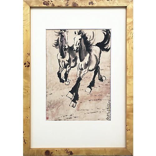 Chinese Horse Watercolor