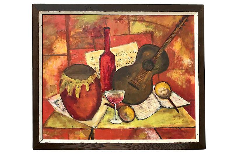 Modern Cubist Abstract Bergman 1950