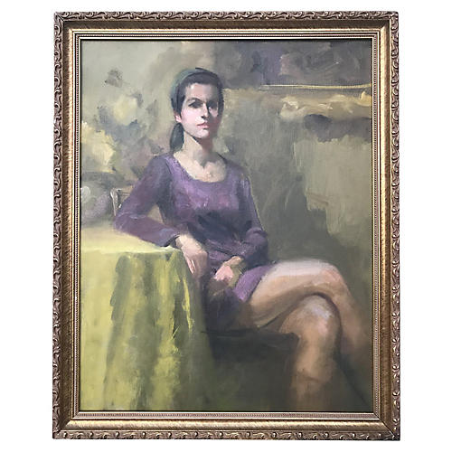 Portrait Painting Woman by Harry Barton