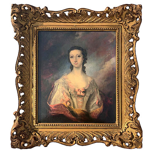 Early 19th C English Portrait of a Woman