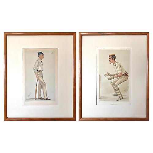 Cricket Players Vanity Fair Prints c1868