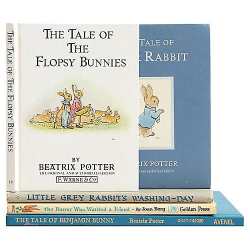 "Children's ""Bunny Stories"" Books, S/5"