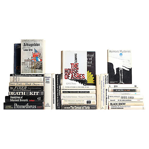 Black & White Retro Books, S/30