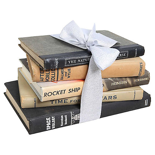 Midcentury Astronomy Books Gift Set, S/5