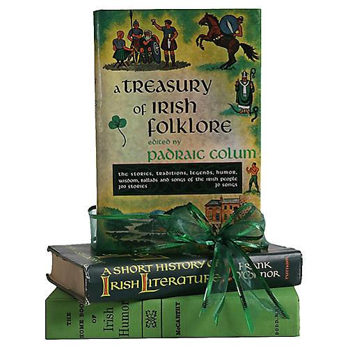 Vintage Book Gift Set: Irish Treasury