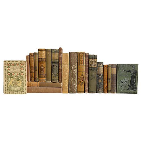 Golden Olive Decorative Books, S/20