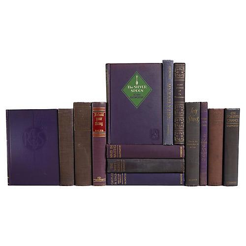 Weathered Violet Book Set, S/14