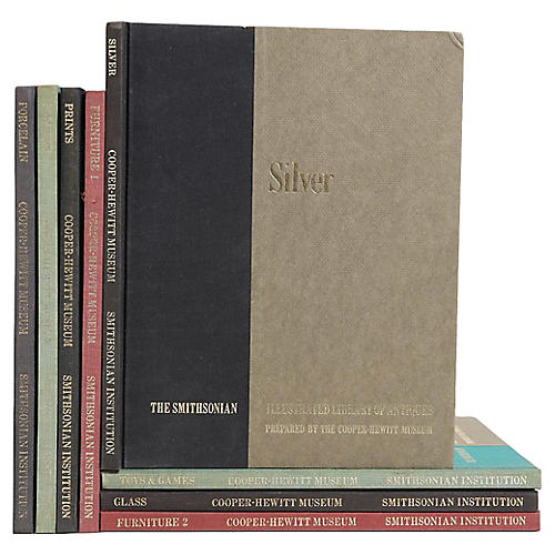 Library of Antiques Book Set, S/8