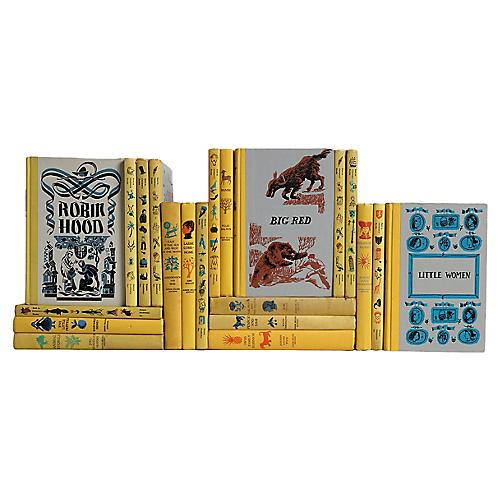 Vintage Yellow Children's Books, S/21