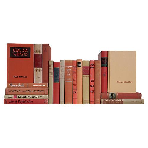Peach Blossom Midcentury Book S/20