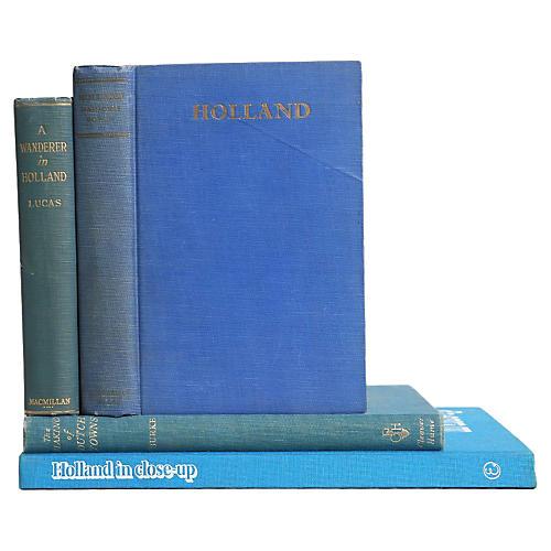 Vintage Book Set: Holland in Blue, S/4