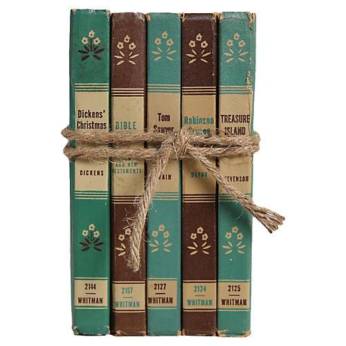 Vintage Book Set: Junior Classics, S/5