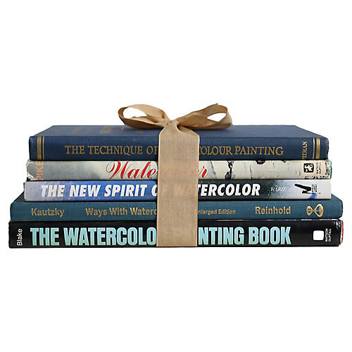 Book Gift Set: Watercolor Painting, S/5