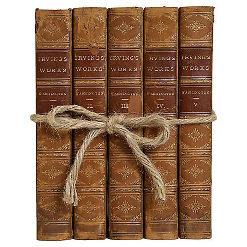 Antique Leather Life of Washington Gift
