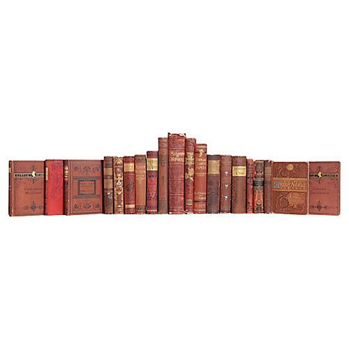 Antique Cobblestone Book Set, (S/20)