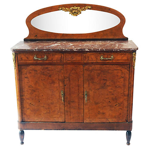 Antique Marble-Top Sideboard