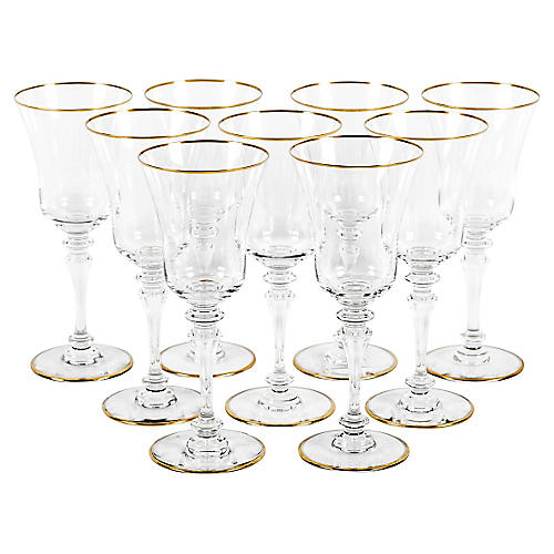 Baccarat Wineglasses, S/9