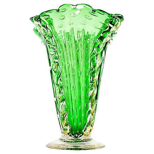 Murano Glass Deco Vase
