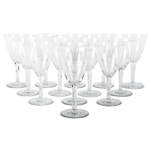Baccarat Crystal Wineglasses, S/13