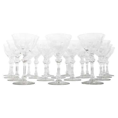 Etched Crystal Coupes, S/20