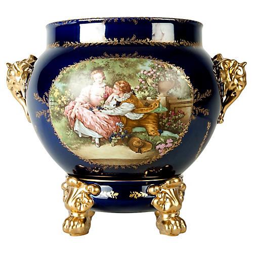 Limoges Porcelain Cachepot