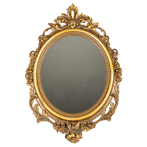 Antique Giltwood Wall Mirror