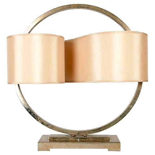 Modernist Brass Lamp
